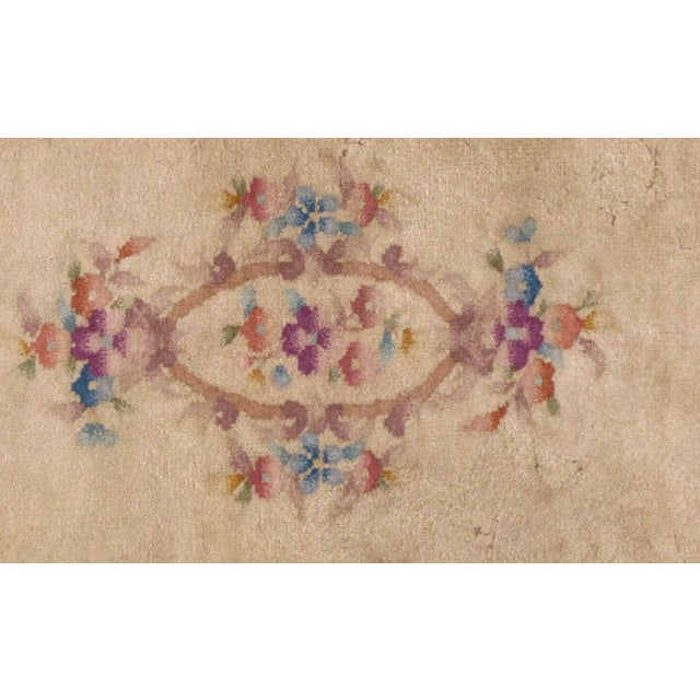 Art Deco 1930s Antique Art Deco Chinese Rug - 2′ × 3′10″ For Sale - Image 3 of 7
