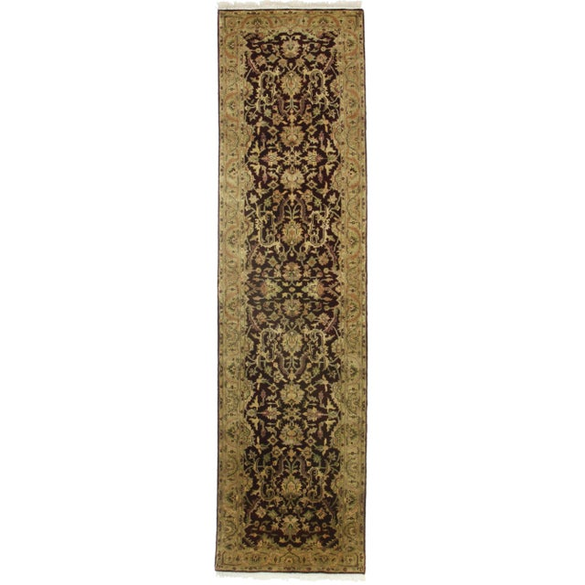 "RugsinDallas Persian Style Hand-Knotted Runner - 2'8"" X 12'2"" For Sale"
