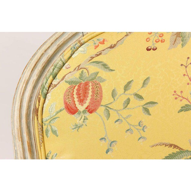 Antique Louis XVI Style Painted Bergere - Image 10 of 11