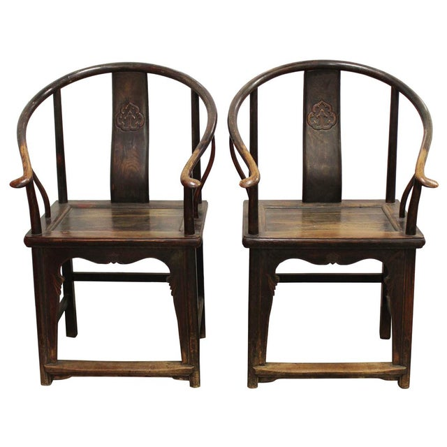 Antique Chinese Mahjong Chairs - A Pair - Image 1 of 4 - Antique Chinese Mahjong Chairs - A Pair Chairish