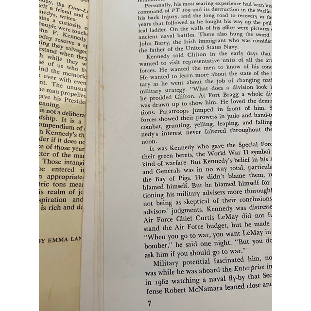 """Vintage 1973 """"The Memories: Jfk, 1961-1963"""" 1st Edition Hardcover Book For Sale - Image 12 of 13"""