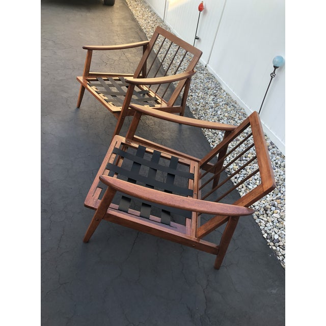 Mid Century Danish Modern Lounge Chairs- a Pair For Sale - Image 11 of 13