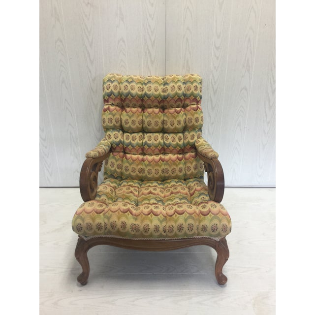 Tufted Slant Back Chair For Sale - Image 4 of 4