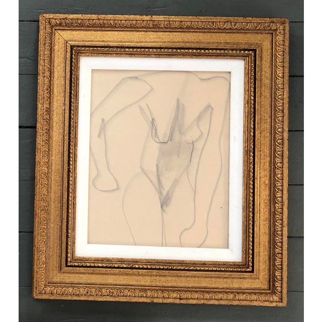 Abstract Gallery Wall Collection 3 Original Vintage Female Nude Charcoal Studies For Sale - Image 3 of 6