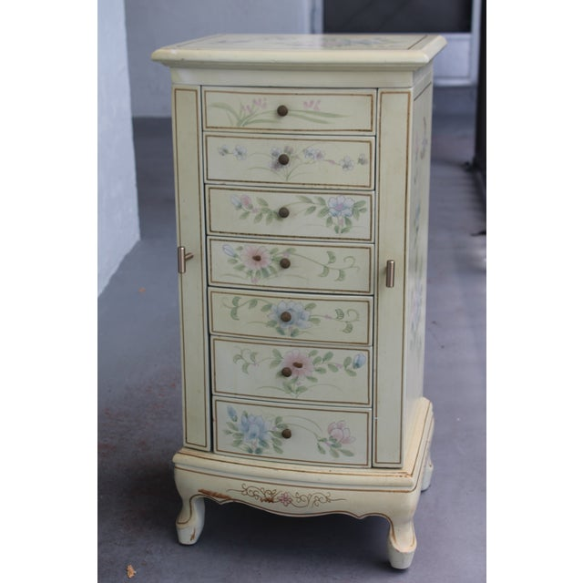 Mid-Century Modern 1950s Cottage Deluxe Tall Jewelry Chest For Sale - Image 3 of 10