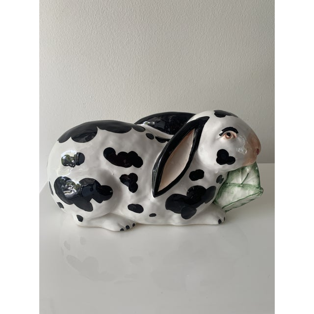 White Mid 20th Century Chelsea House Spotted Porcelain Rabbit, Made in Italy For Sale - Image 8 of 8