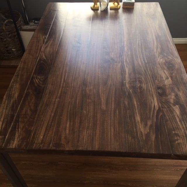 Handmade Reclaimed Wood Dining Table - Image 5 of 9