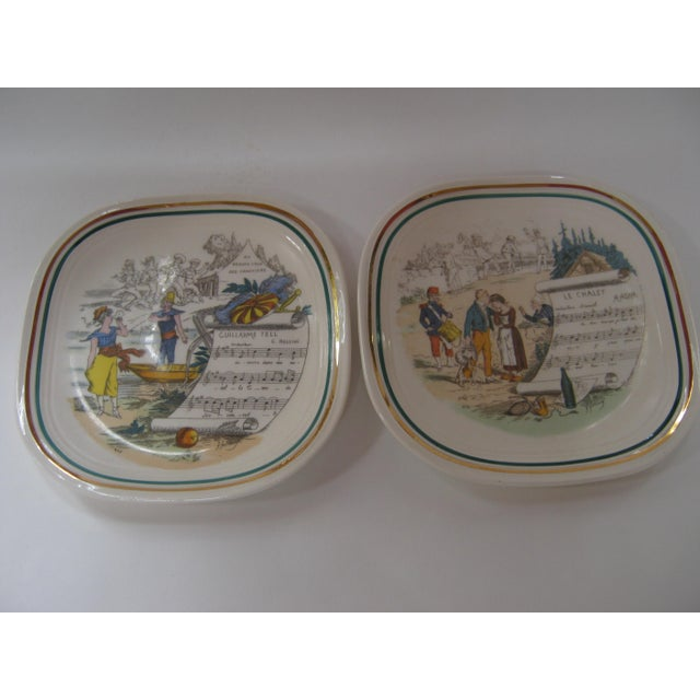 Vintage French Opera Plates With Different Scores & Scenes - Set of 6 For Sale - Image 4 of 6