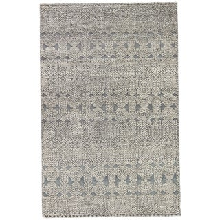 Jaipur Living Abelle Hand-Knotted Medallion Gray/ White Area Rug - 2' X 3'