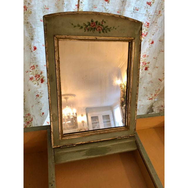 1920s Antique Hand Painted French Vanity With Bench-a Pair For Sale In Providence - Image 6 of 13