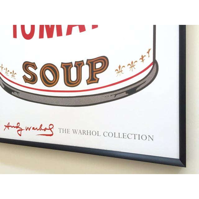 """Andy Warhol Foundation Vintage Large Framed Lithograph Print Iconic Pop Art Poster """" Campbell's Soup I ( Tomato ) """" 1968 For Sale - Image 12 of 13"""