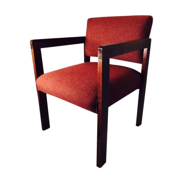 1970's Style Wood and Upholstered Chair - Image 1 of 6