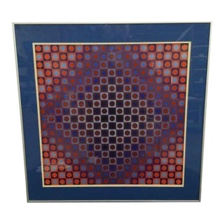 Victor Vasarely Optical Art Signed Lithograph For Sale