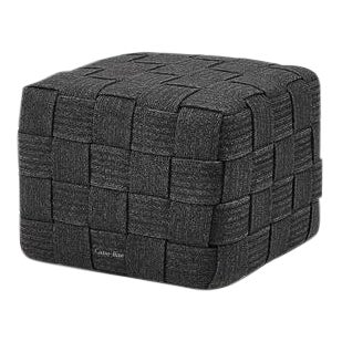 Cane-Line Cube Footstool, Dark Gray For Sale