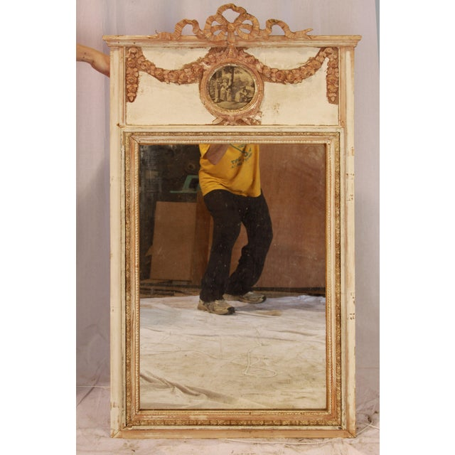 Wood 19th Century French Laurel Trumeau Mirror For Sale - Image 7 of 7