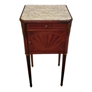 19th Century French Louis XVI Bedside Table For Sale