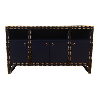 Bungalow 5 Navy Blue Marco Cabinet For Sale