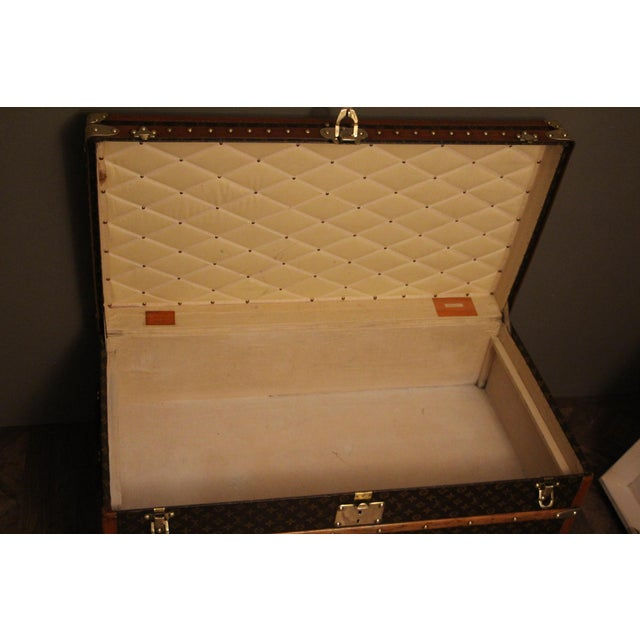 Animal Skin 1930s Louis Vuitton Cabin Steamer Trunk For Sale - Image 7 of 13