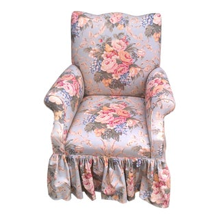 Custom Upholstered Arm Chair For Sale