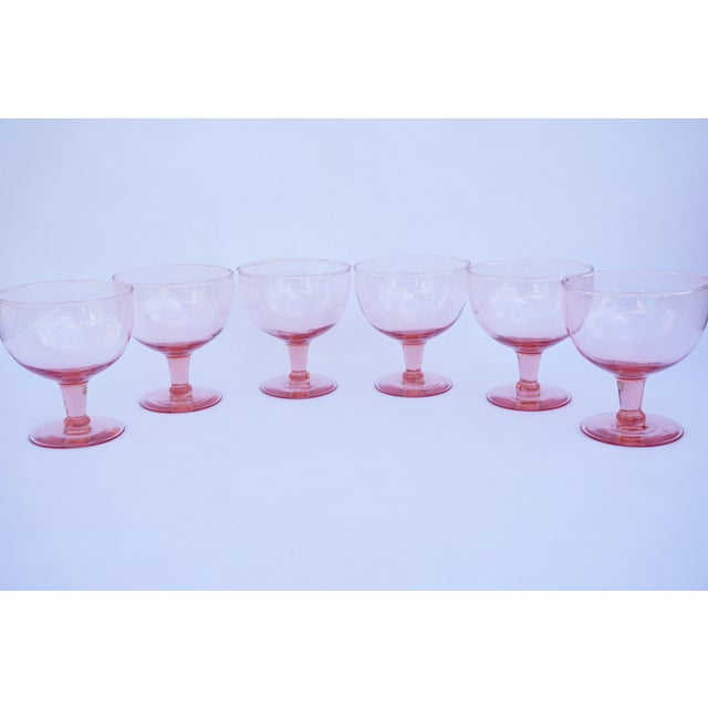 Set of 6 (+1 Bonus=7) pretty in pink vintage stemmed glasses. I LOVE these! They are extremely versatile and can used for...