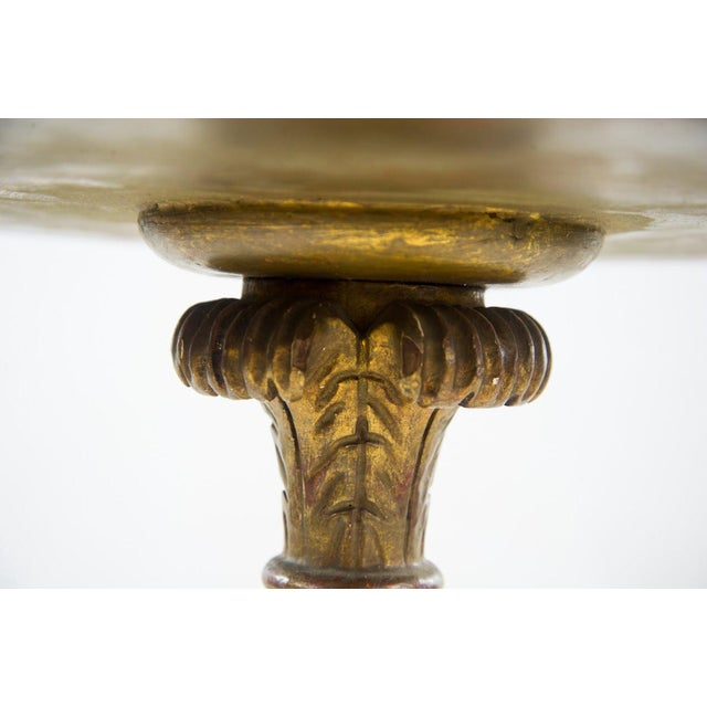 Giltwood Italian 20th C. White Round Marble Top Accent Table For Sale - Image 7 of 10