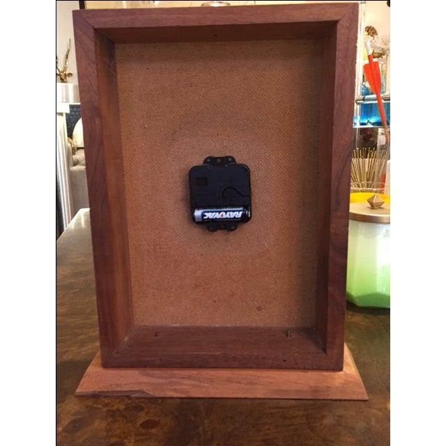 Vintage Modern Enamel on Copper Clock - Image 7 of 8