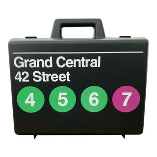 Pop Art Massimo Vignelli Nyc Subway Storage Case For Sale