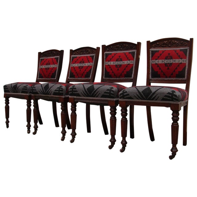 Ralph Lauren Fabric Dining Chairs - Set of 4 - Image 1 of 6