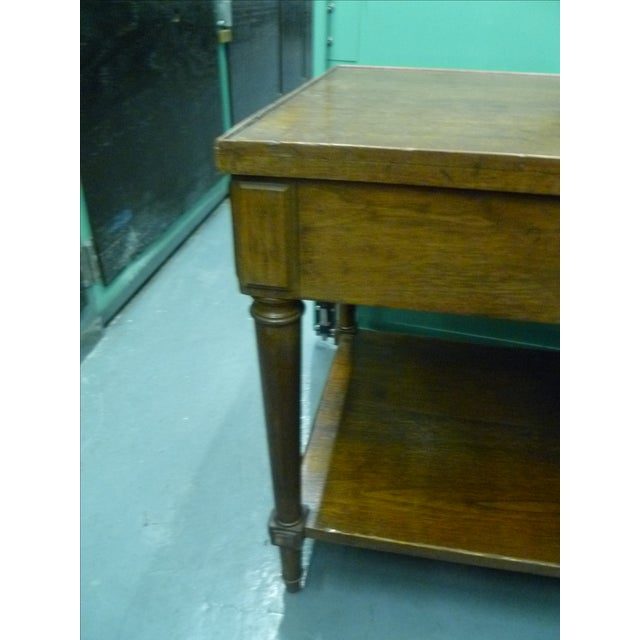 Antique French Mahogany Side Tables - Pair - Image 10 of 11