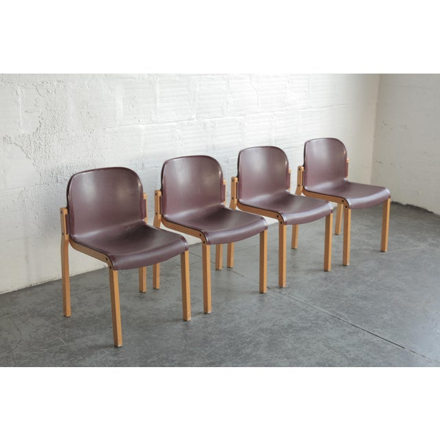Mid-Century Modern Vintage Stackable Bentwood and Plastic Thonet Chairs- a Pair For Sale - Image 3 of 6