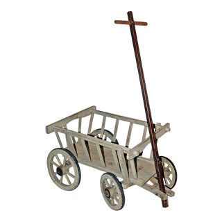 Antique French Pull Cart For Sale