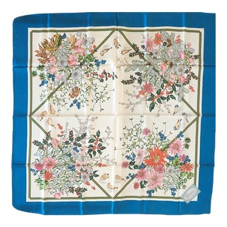 Gucci Poinsettia and Holly Silk Scarf For Sale
