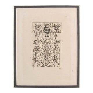 1781 Italian Engraving, Divine Comedy (Dante Alighieri) Signs and Symbols For Sale