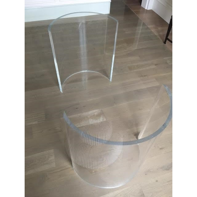 Vintage Lucite Base Dining Table For Sale - Image 6 of 10