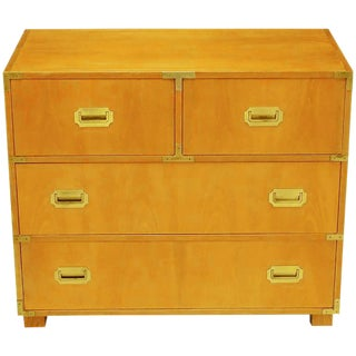 Baker Bleached Walnut Campaign Commode For Sale