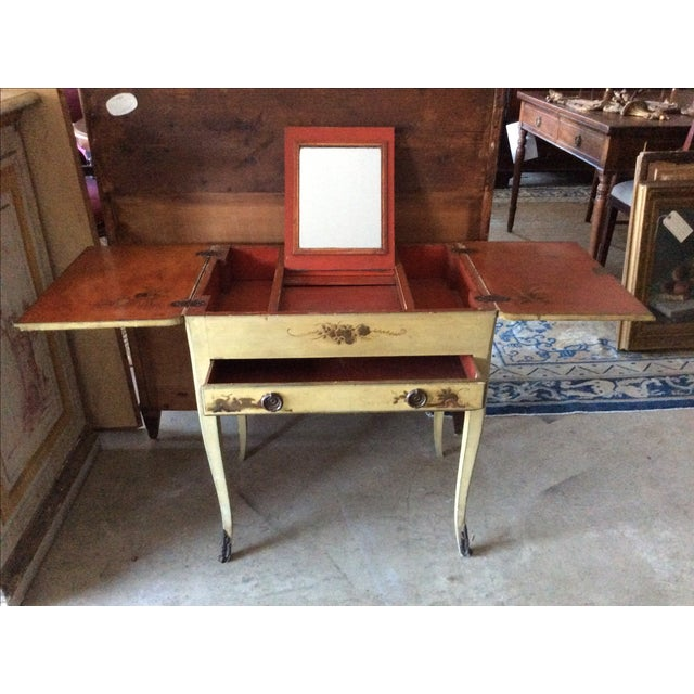 Shabby Chic Vintage Chinoiserie Vanity - Image 3 of 9