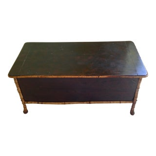 Victorian Era Bamboo and Lacquer Chest For Sale