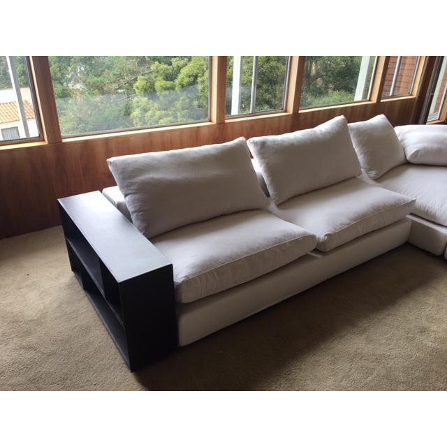 Flexform Custom Made Groundpiece Sofa For Sale - Image 9 of 11