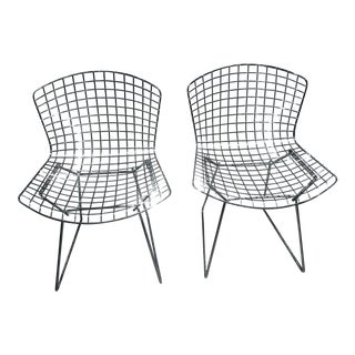 1990s Vintage Harry Bertoia Side Chairs- a Pair For Sale