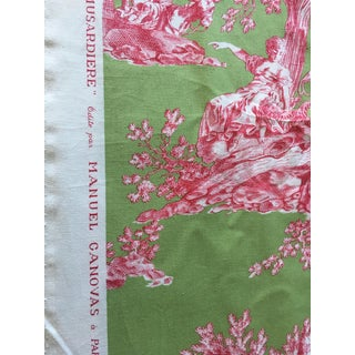 Manuel Canovas Toile Cerisy Collection La Musardiere Vert Groseille Fabric - 5 Meters/5.46 Yards For Sale