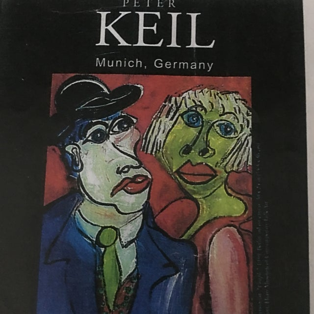 Peter Keil Early Mixed Media Drawing Painting For Sale - Image 10 of 12