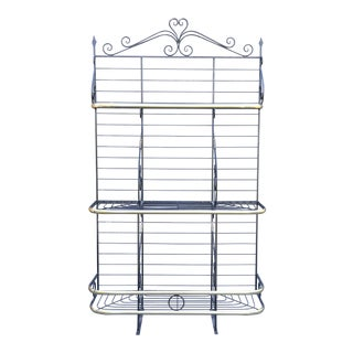 French Iron & Brass Baker's Rack For Sale