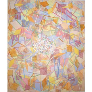 Vintage Large Scale Sunny Abstract Painting For Sale