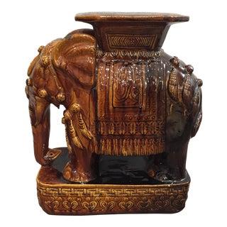 Vintage Elephant Ceramic Garden Stool