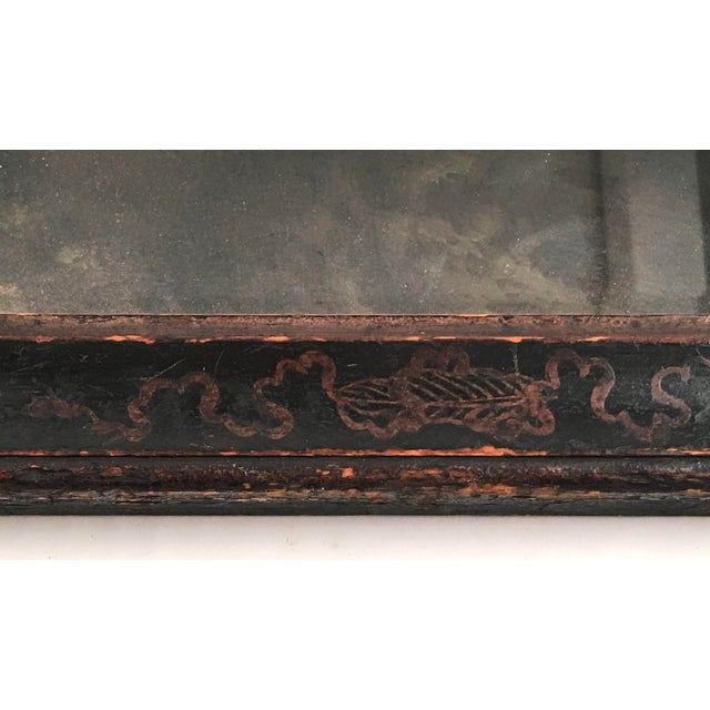17th Century William and Mary Black Japanned or Lacquered Mirror For Sale - Image 5 of 8