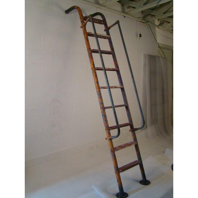 Blue Vintage Steel American Playground Ladder For Sale - Image 8 of 11
