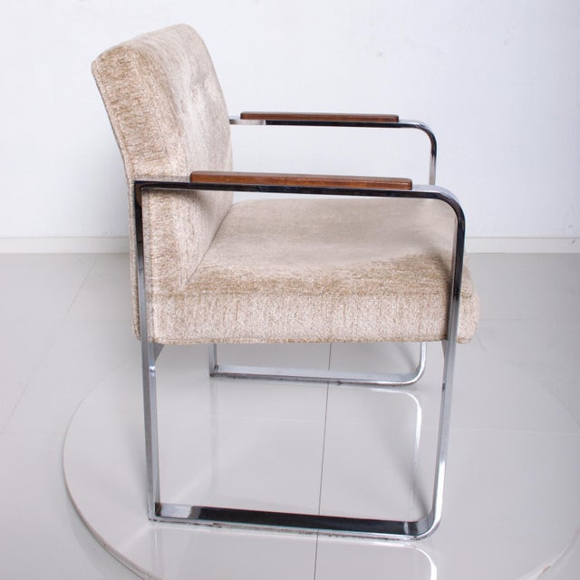 Mid Century Modern Milo Baughman for Thayer Coggin Chrome Dining Chairs-Set of 4 For Sale - Image 10 of 11