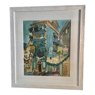 Raoul Dufy Village Scene Lithograph For Sale
