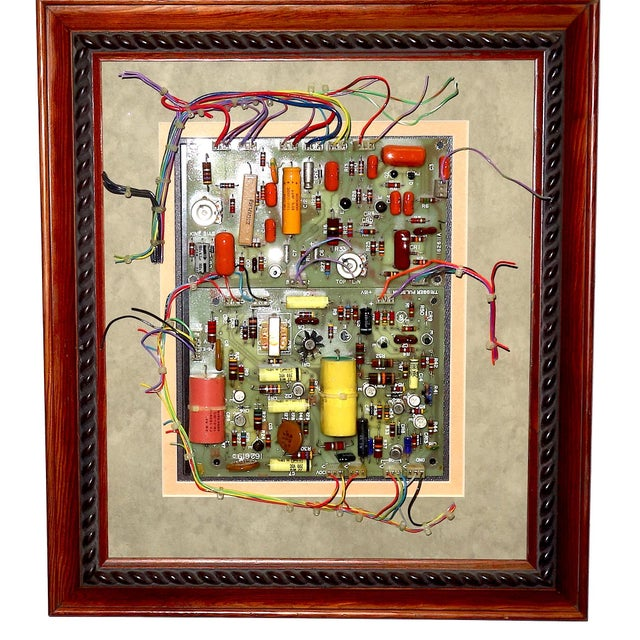 Acrylic Mid Century Component Art Wall Sculpture by Bill Reiter. Wood Framed & Matted. For Sale - Image 7 of 13