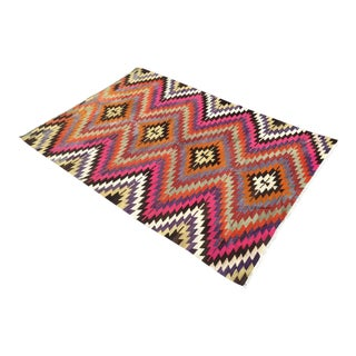 Gorgeous Turkish Diamond Kilim Ruig For Sale